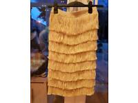 Unworn H&M Fringe pencil skirt