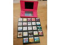 Nintendo pink dsi and games
