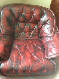 Leather Chesterfield Armchair..