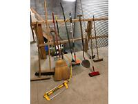 Array of garden shed tools