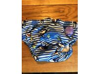 12-15kgs Bambino Mio Swimming Pants with Sharks and Fish
