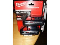 Milwaukee Battery two pack 48-11-1835 M18 Red lithium 18V 3.0Ah High Output 2019