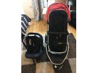Mothercare Xpedior 3 wheeler Pram incl car seat