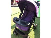 Purple Graco pram