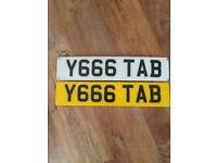 Private plate Y 666 TAB.