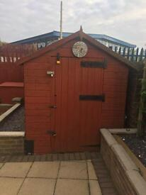 Shed and coal bunker