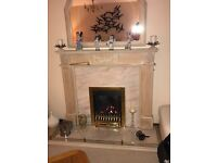 Firplace with marble surround