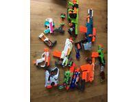 10 nerf guns, all fully working