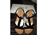 Black sandals new boxed