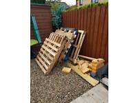 Wood crates and scraps