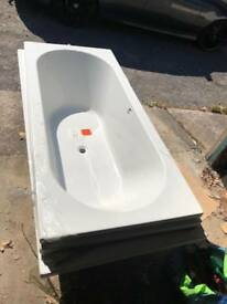 1700 x 750 double ended bath with panels and legs brand new