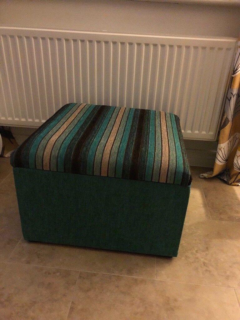 Footstool storage box