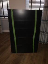 Black ash chest of drawers