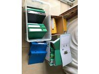 Office folders-Lots of..from 0.25p each.