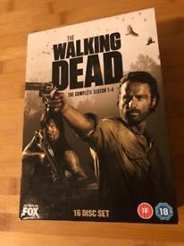 The Walking Dead seasons 1 - 4 DVD box set