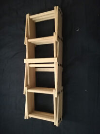 Cute small wine rack - perfect for a kitchen!
