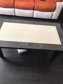 Marble coffee table & side tables