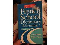Collins French school dictionary and grammar
