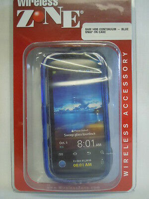 Snap on Hard cover Blue -Samsung Continuum I400 - Verizon Cover Blue Snap