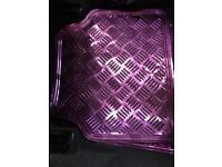 Pink x 4 set car mats