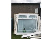3 large second hand windows