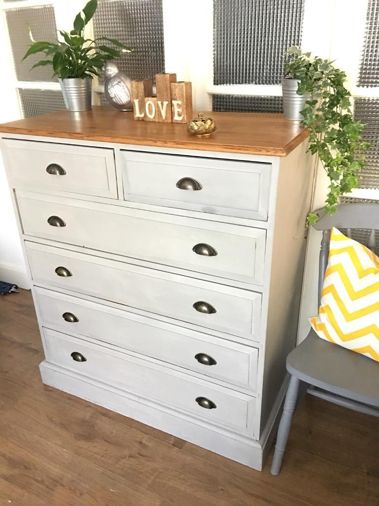 Spacious Chest FREE DELIVERY LDN🇬🇧SHABBY chic solid wood