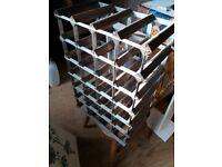 2 Sturdy wood and metal wine racks