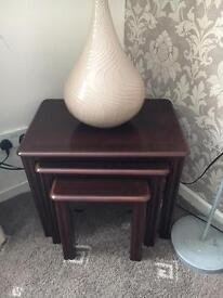 3 Side Table with decoration pot