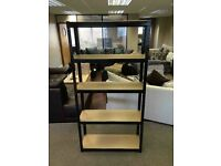 £75 for 2x HEAVY DUTY 175kg/shelf BLACK Storage shelves 180x90x30cm Metal Racking Garage delivery