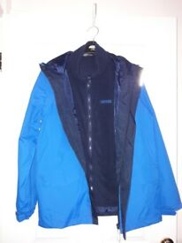 REGATTA Two-Layer Sky Blue Waterproof Raincoat Size 32 Chest NEW - collection from Gosport Hampshire