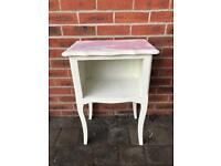 French Vintage bedside table decorated in unicorn shabby chic