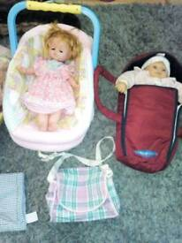 Set of dolls and accessories