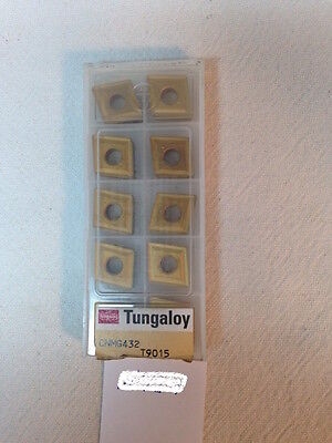 10 New Tungaloy Cnmg 432 Carbide Inserts. Cnmg 120408 Grade T9015 H584