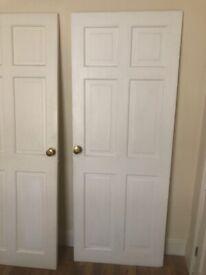 Pair of solid wood doors