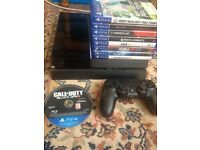 PS4 500 Gb Playstation with original box including 9 games. Toxteth area.