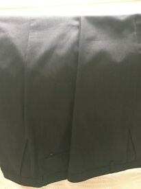 2 pairs of M&S Boys' Supercrease™ Pleat Front Stain Resist Trousers (age 14-15 years) charcoal