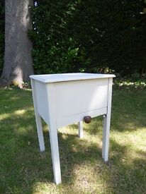 Side Table with lift up lid and pull out drawer
