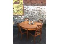 Gplan teak vintage table and chairs