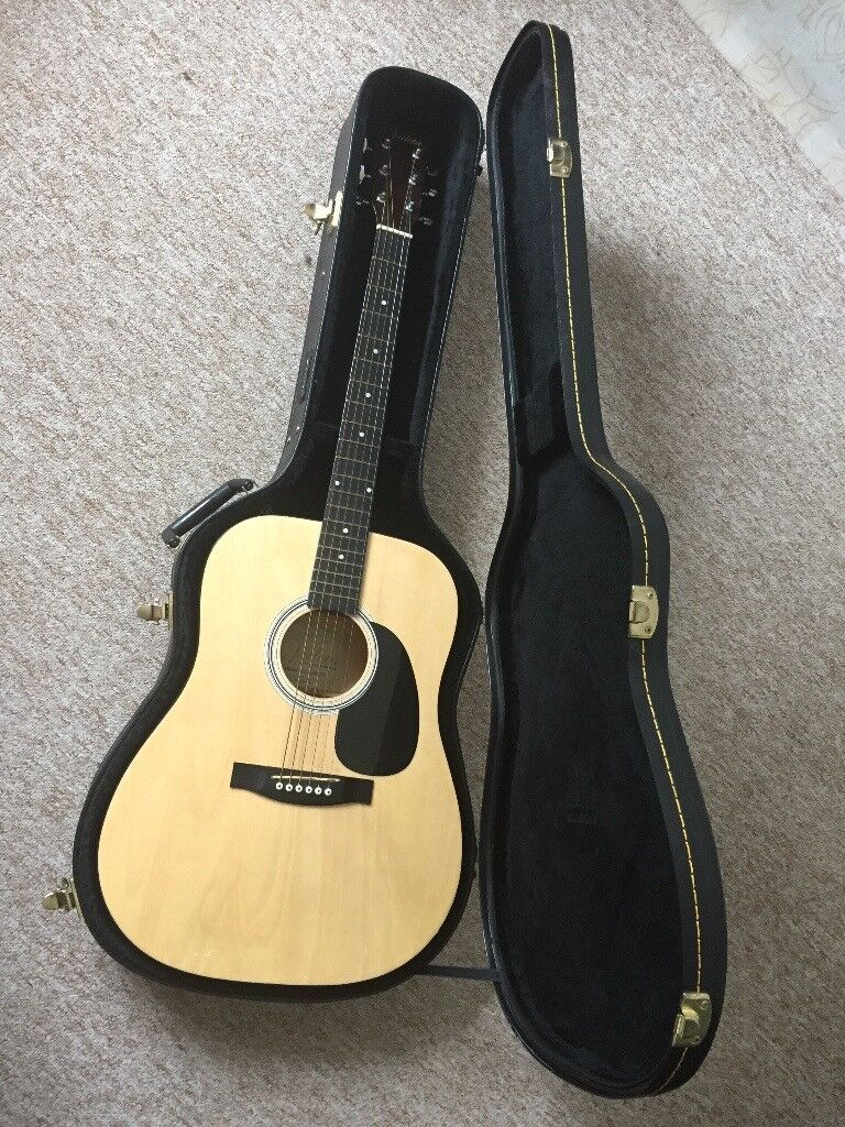 6 String Cd6100tv Electro Acoustic Guitar By Valeta With Martin Co