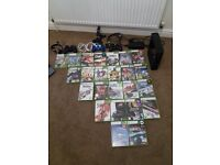 XBOX 360 - 250GB - Black - including leads/HDMI & Games & Accessories FIFA/Minecraft/WWE/007 etc