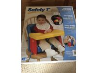 Safety first portable booster seat