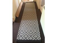 Beautiful long quality runner rug all natural fibres