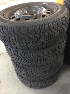 Mazda 3 Winter Tires Size 205/55/16 Goodyear Nordic Tires On Rims 80% Tread