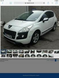 2013 Peugeot 3008 parts breaking white
