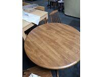 Circular Pedestal Table & 2 Chairs