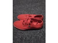 Brand new size 6 woman's red lacoste plimsolls trainers shoes