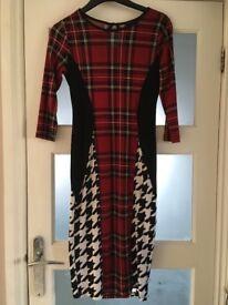 Tartan River Island Dress