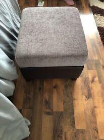 Sofa 2x2 seater sofa, foot stool & living room set.