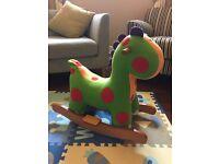 Mamas and Papas baby toddler rocking dinosaur great condition