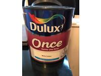 Dulux Once Paint - new 2.5l in White Cotton